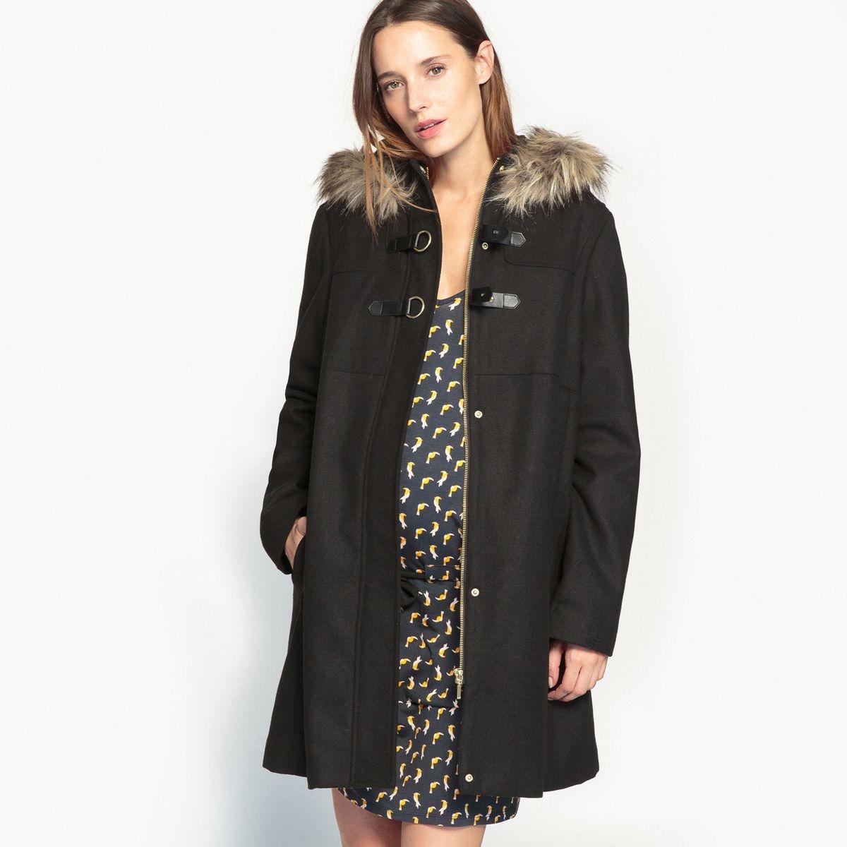 Manteau à capuche de grossesse noir