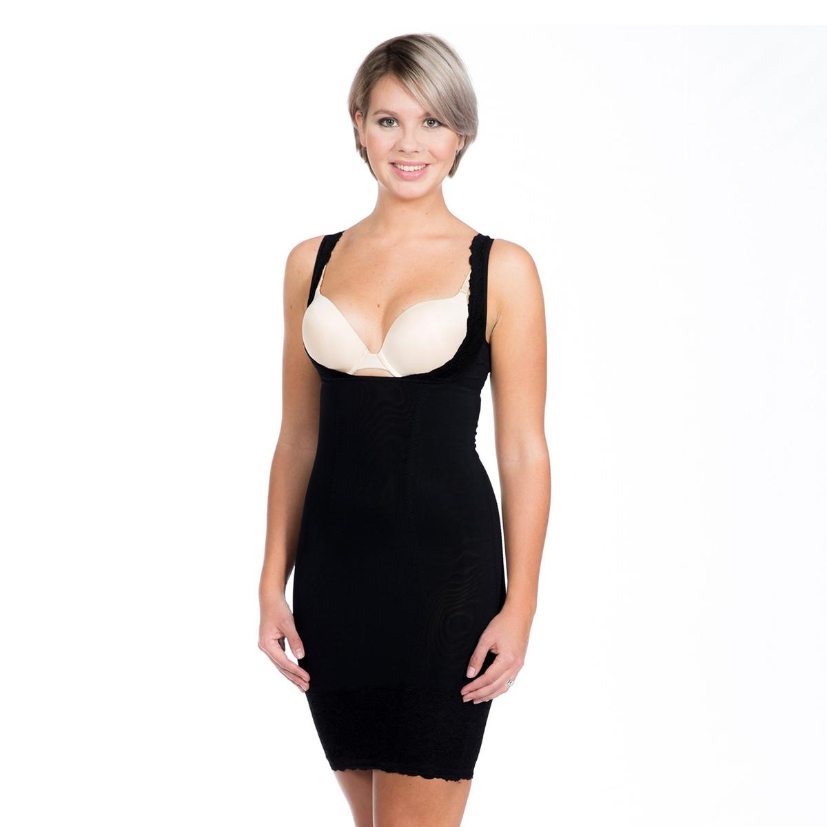 Платье La Redoute Утягивающее ниже груди Super Control S черный