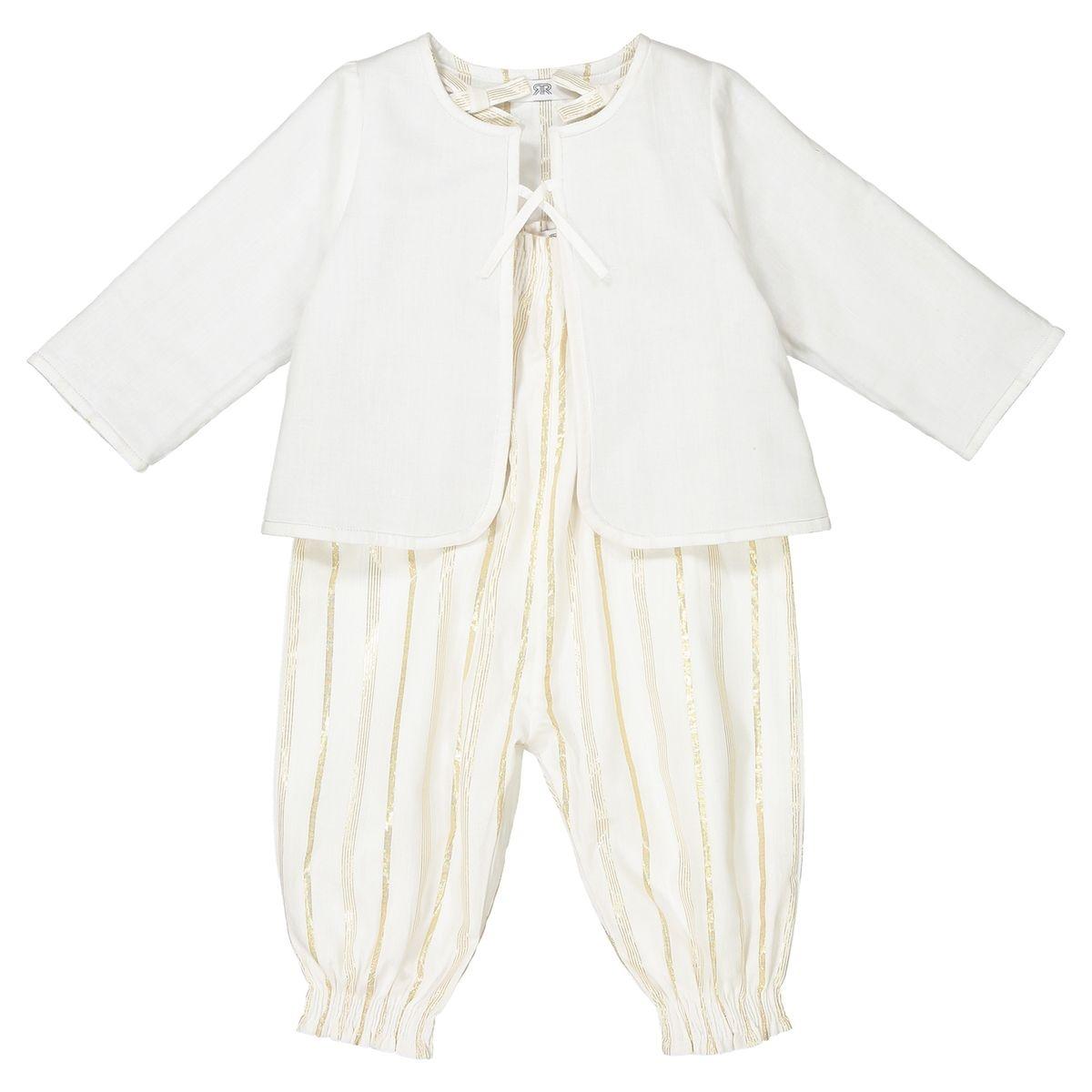 Ensemble bébé veste et combinaison 1 mois - 3 ans