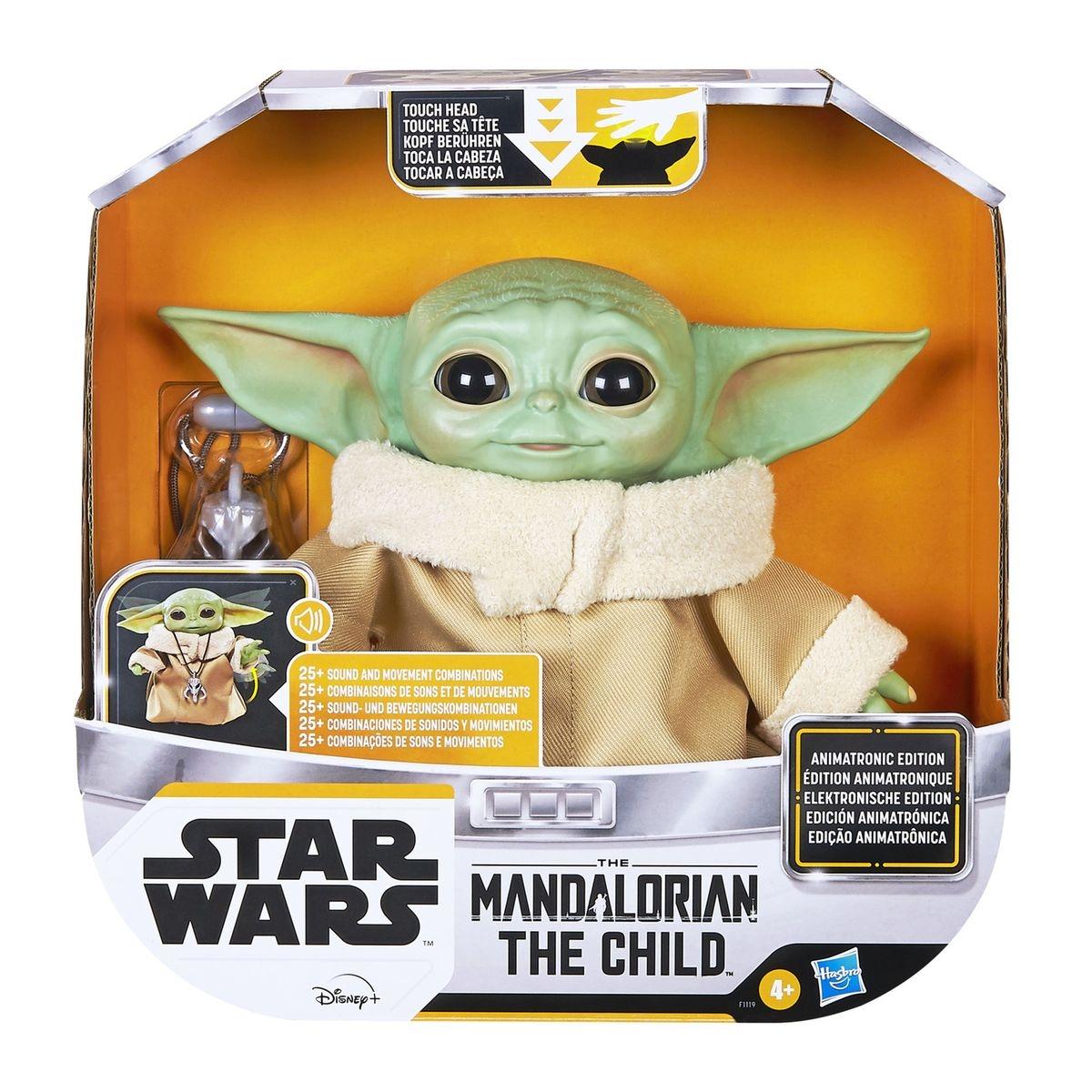 Star wars the mandalorian - figurine the child bébé yoda animatronic