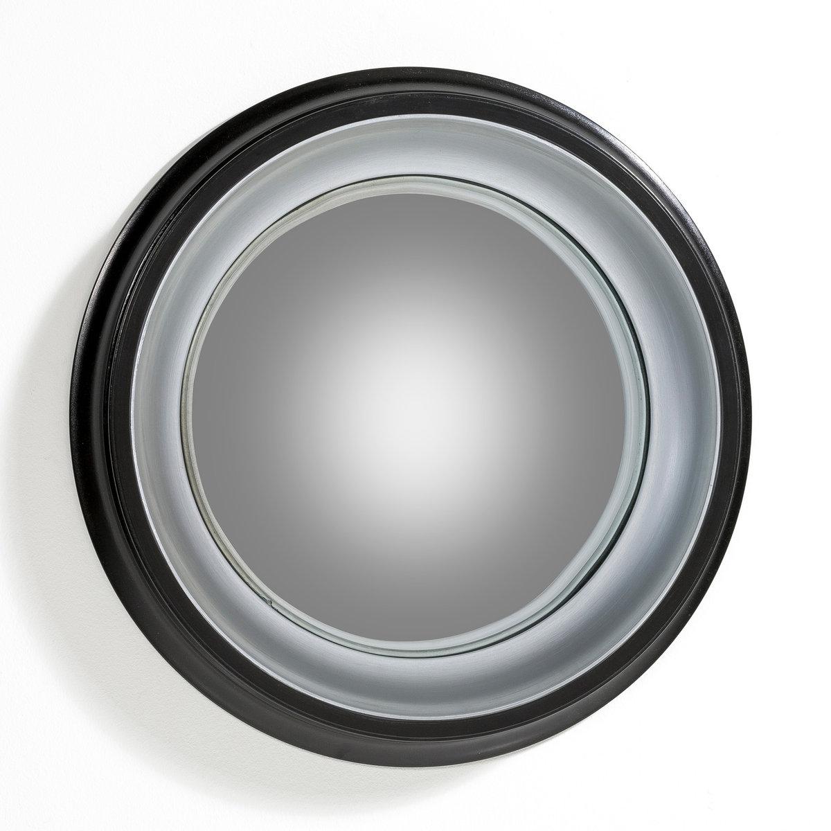 Зеркало Samantha, большой размер?60 смХарактеристики: : Рама из МДФ, отделка черного и золотистого цвета. Выпуклое алюминиевое стекло. Металлические крепления, которые заделываются в стену.Размеры  :Диаметр 60 см.<br><br>Цвет: черный/ золотистый,черный/ серебристый<br>Размер: ? 60см.? 60см