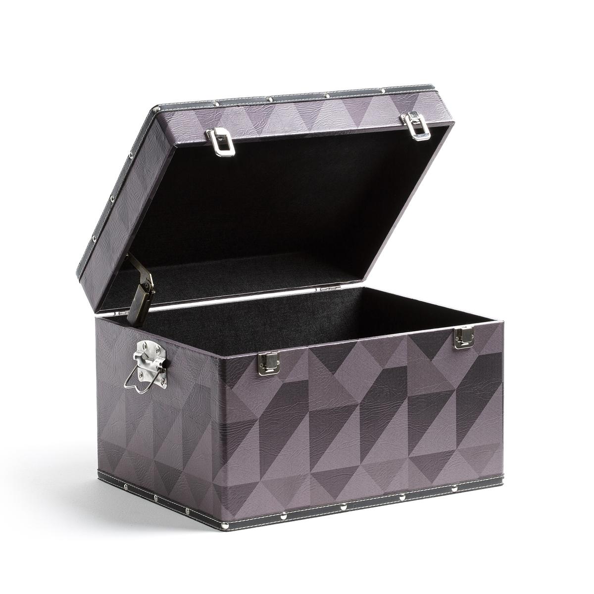 Чемодан LozaЧемодан Loza с очень модным геометрическим рисункомОписание чемодана Loza :МДФ, покрытый полиуретаном с рисунком снаружи Подкладка из вшитой ткани, 2 ручки для переноски по бокам, 2 застежки спередиЗастежка и ручки из металла,Компактный тормоз для предотвращения опрокидывания.Найдите коллекцию Loza на сайте laredoute .ruРазмеры чемодана Loza :   Длина : 45,3 см Высота : 30 смГлубина : 35 см<br><br>Цвет: черный/хаки/серый