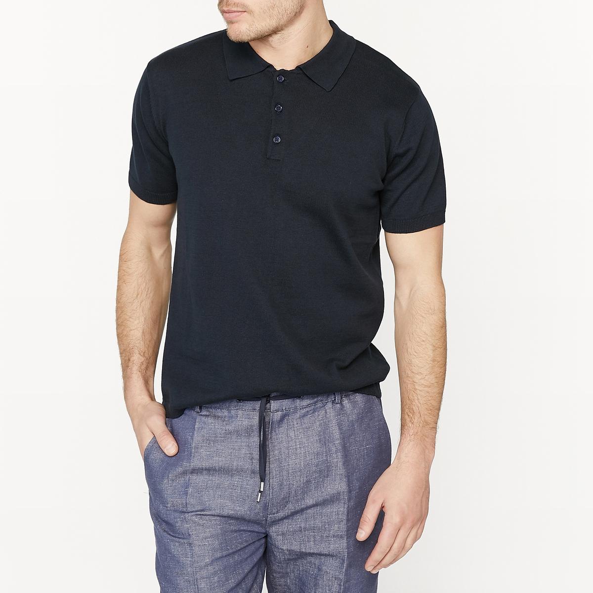 Пуловер с короткими рукавами и круглым вырезом, 100% хлопок