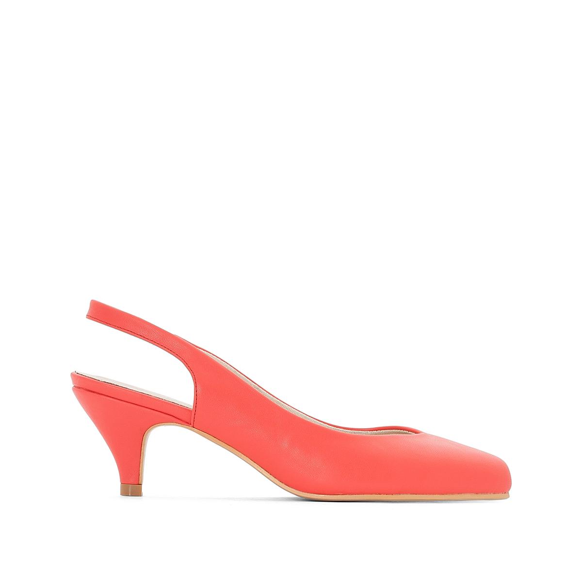 Туфли на среднем каблуке с открытым задником 38-45