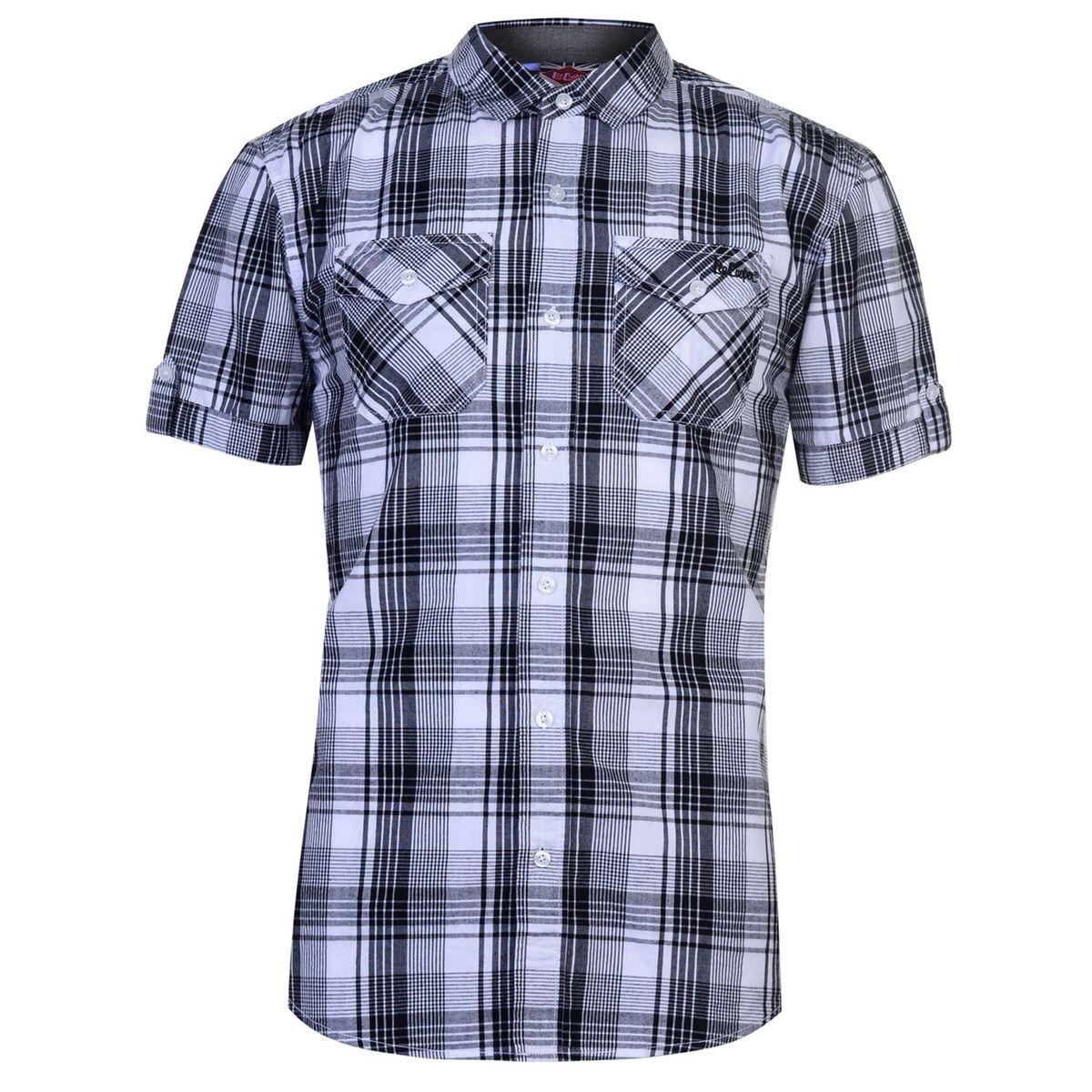 Chemise décontractée carrée manche courte