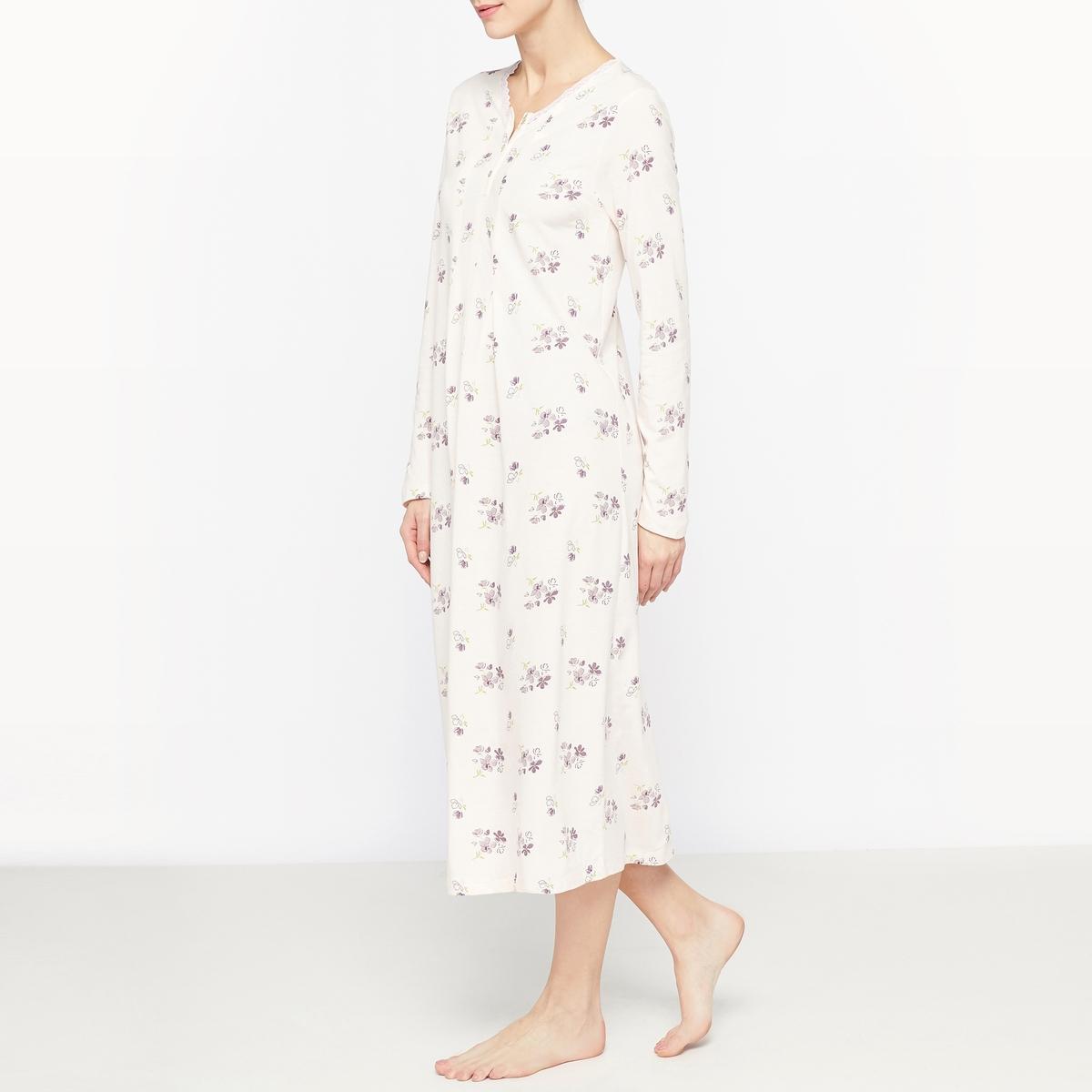 Сорочка ночная с цветочным рисунком