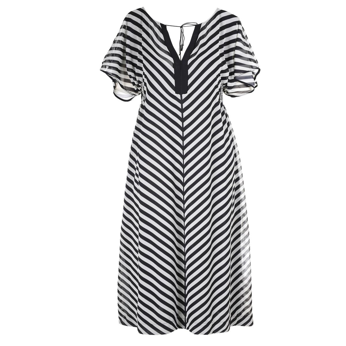Платье<br><br>Цвет: набивной рисунок<br>Размер: 52/54 (FR) - 58/60 (RUS).48/50 (FR) - 54/56 (RUS).44/46 (FR) - 50/52 (RUS)