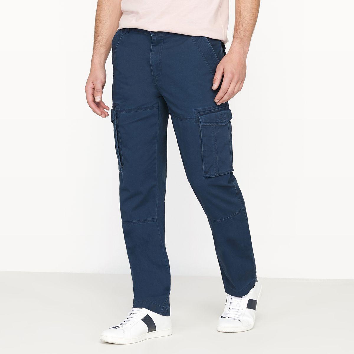Pantalon cargo regular pur coton