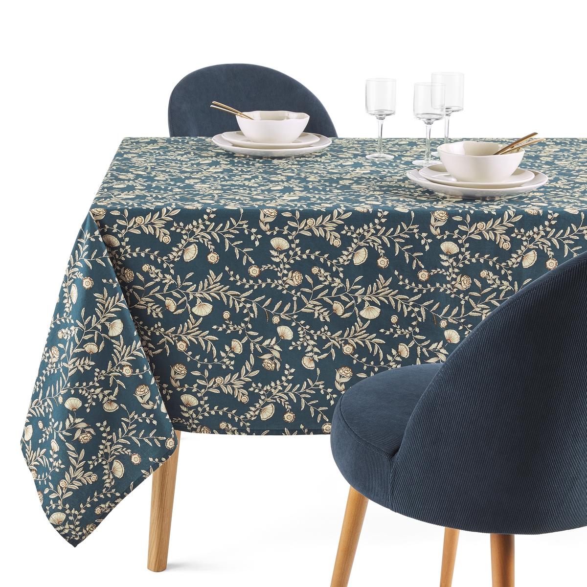 Скатерть LaRedoute Из стираного хлопка Vimala 150 x 300 см синий