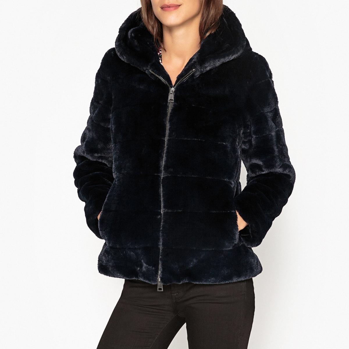 Пальто короткое с капюшоном FICTION