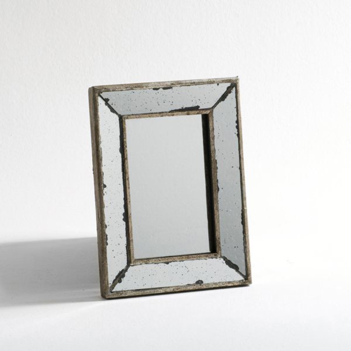 Зеркало в ретро-стиле, маленькая модель Д23,5 x В31,5 см, EdwinРазмеры  :Д.23,5 x В.31,5 x Г.2 см..<br><br>Цвет: серый серебристый