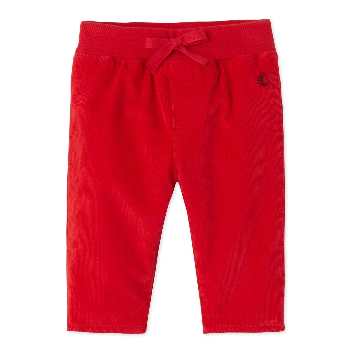 Pantalon bébé garçon en velours stretch