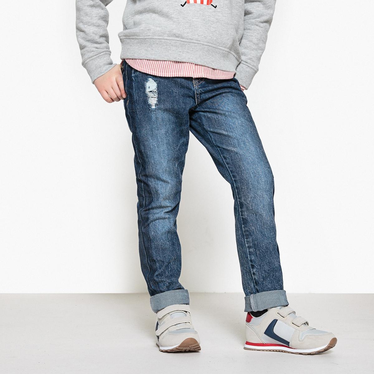 Jeans boyfit tom desbotado, 3-12 anos