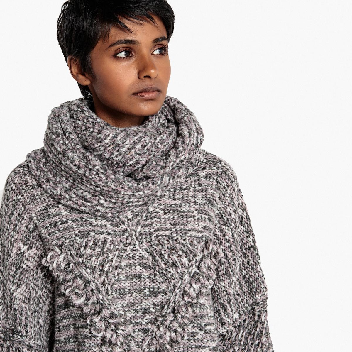 Пуловер премиум-класса, связанный вручную, продается с шарфом La Redoute Collections