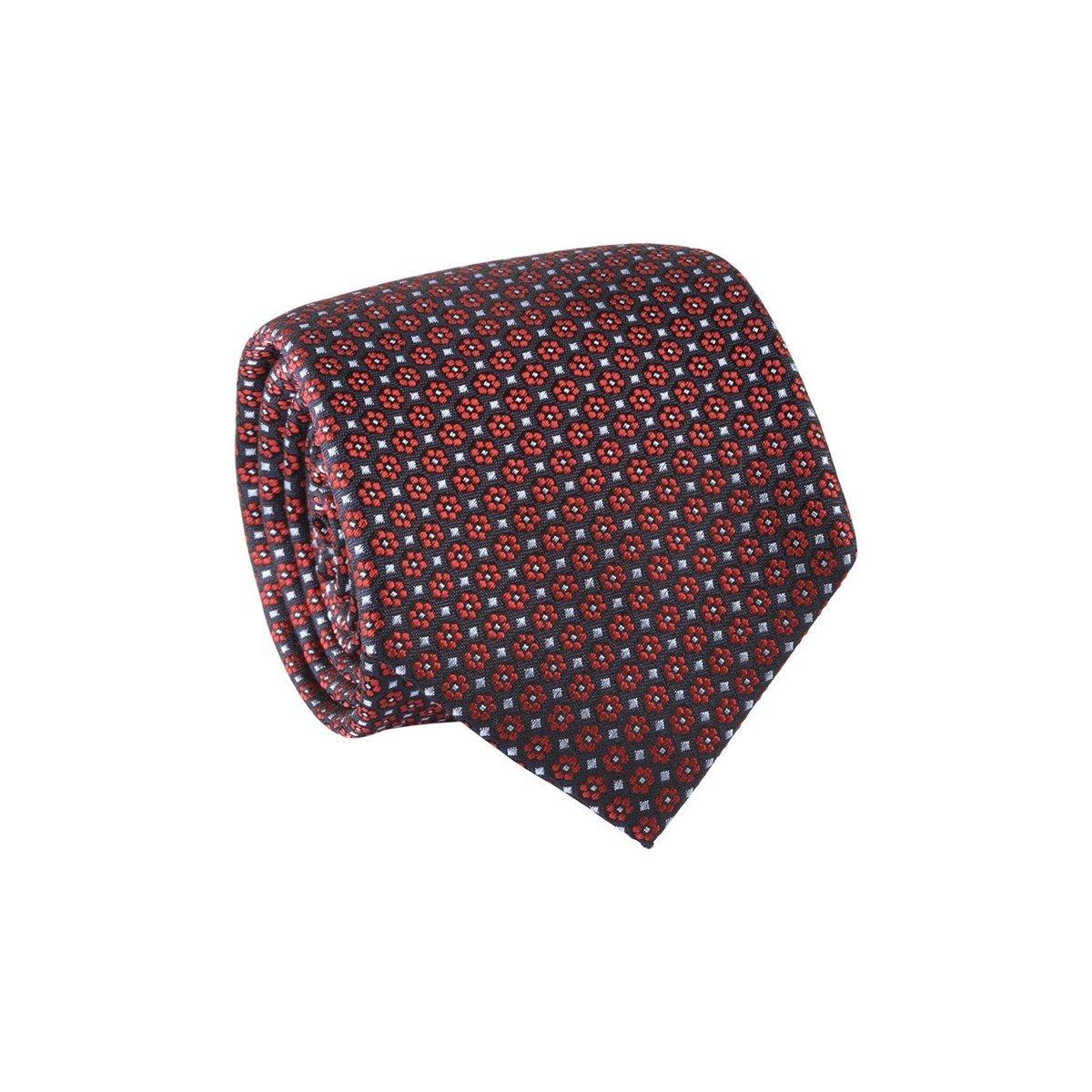 Cravate à fleurs 100% soie