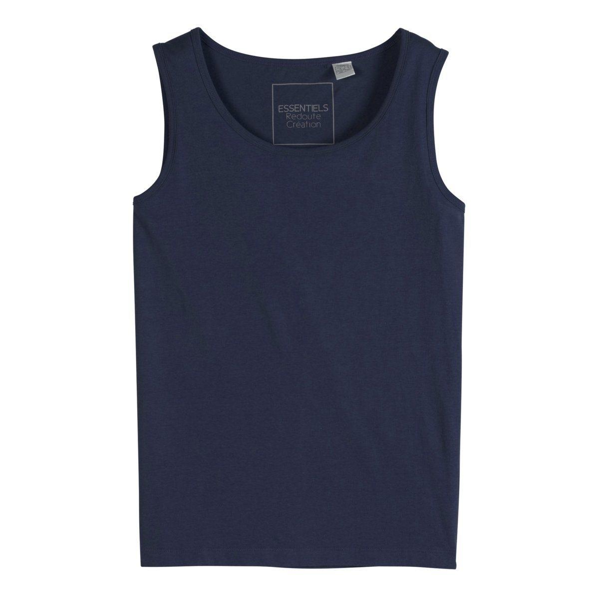 МайкаДжерси, 100% хлопка (цвет серый меланж: 85% хлопка, 15% вискозы). Длина 71 см.<br><br>Цвет: белый,серый меланж,темно-синий,черный<br>Размер: XS.XL