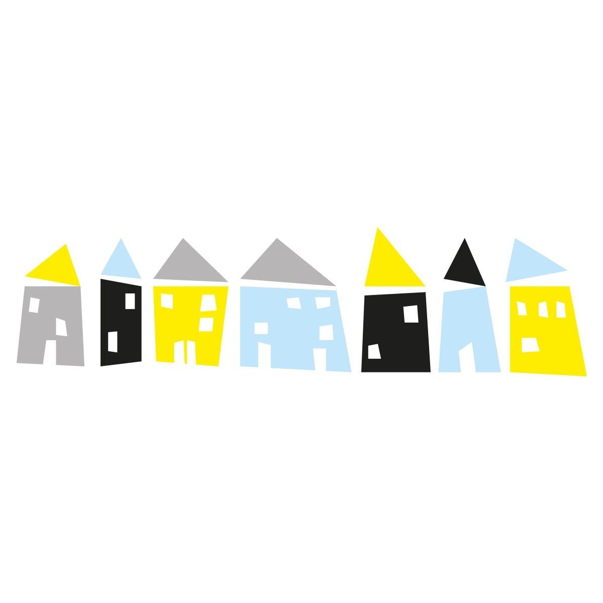 Sticker mural enfant Maisons