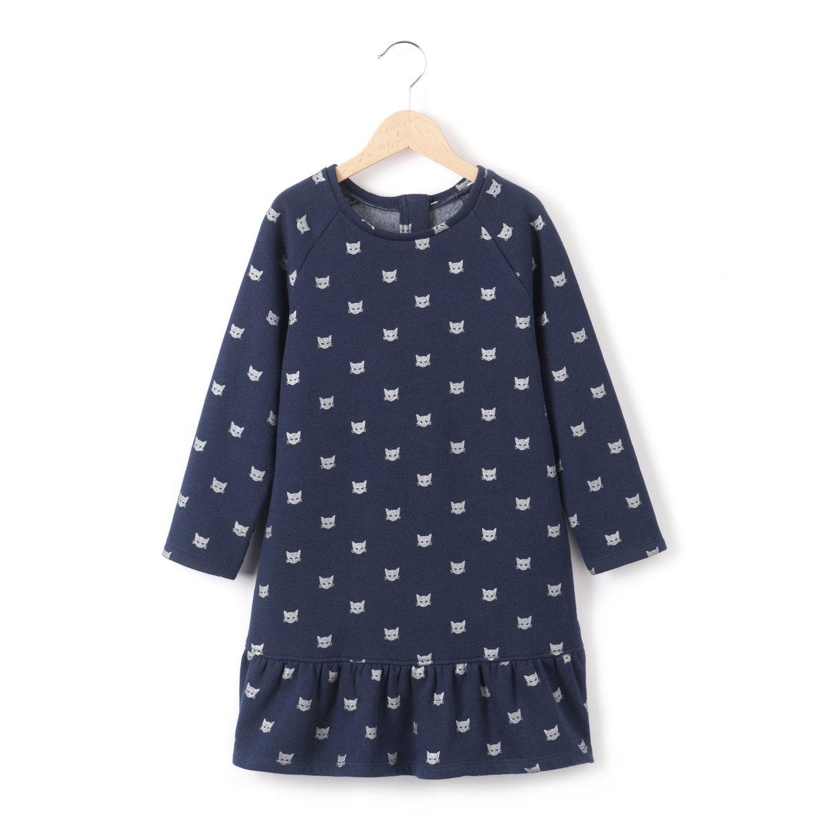 Платье из мольтона с блестками от La Redoute