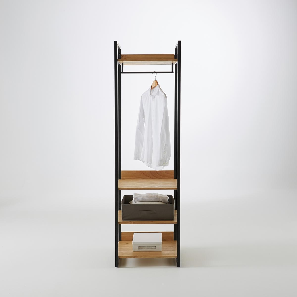 Модуль La Redoute Для одежды полки из окрашенного массива сосны Hiba единый размер каштановый