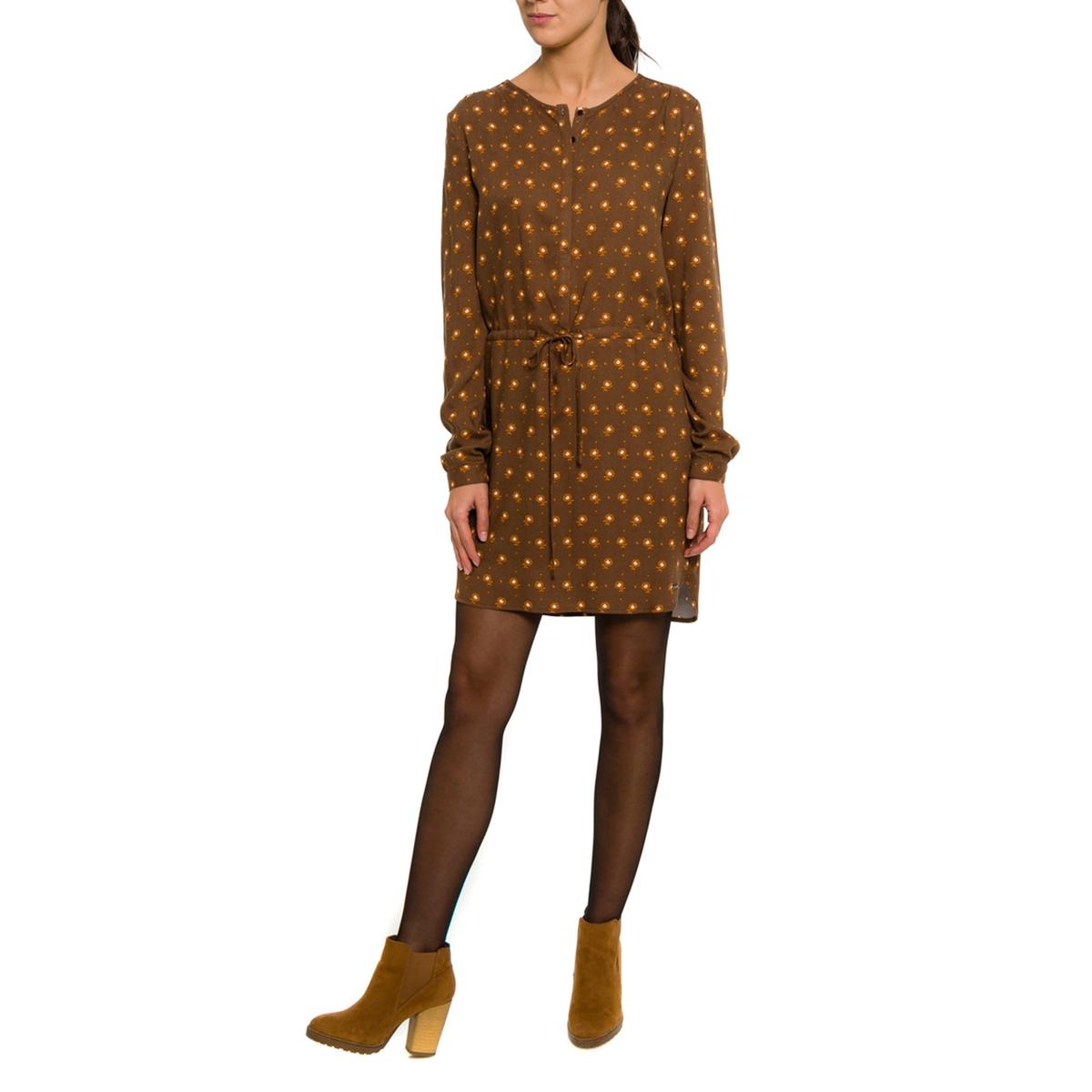 Платье с рисункомСостав и описание:Материал: 70% вискозы, 30% полиэстера.Марка: PARAMITA.<br><br>Цвет: рисунок каштан<br>Размер: XL