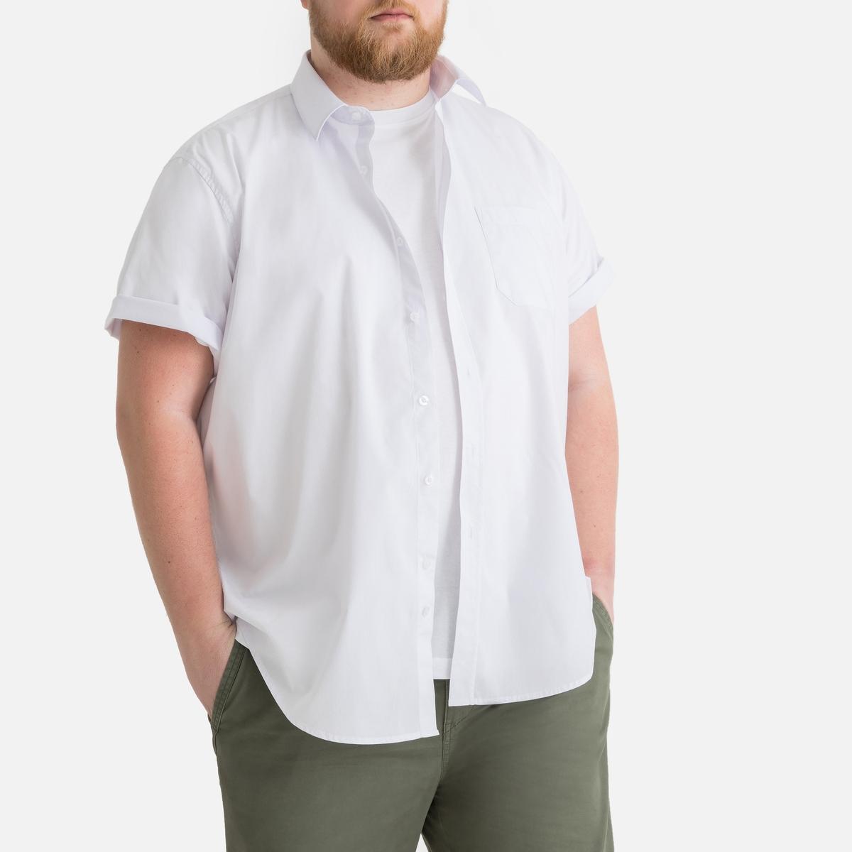 Рубашка La Redoute Прямого покроя с короткими рукавами из коллекции больших размеров 43/44 белый