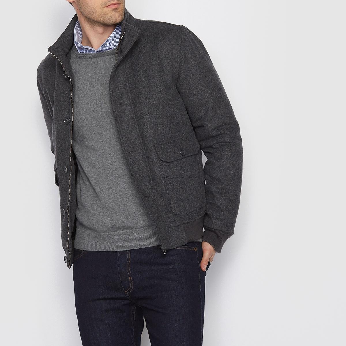 Пальто короткое, 60% шерстиСостав и описание:Материал:60% шерсти, 32% полиэстера, 5% полиамида, 3% вискозы.Длина: 67,5 см. Марка: R essentiel.<br><br>Цвет: антрацит<br>Размер: XL