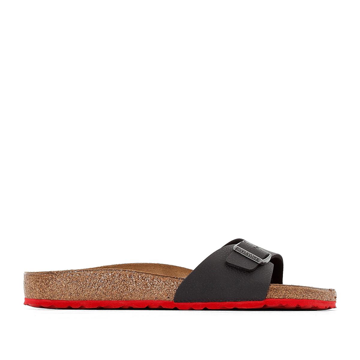 Туфли без задника MADRIDОписание:Детали •  Туфли без задника •  Застежка : без застежки •  Открытый мысок •  Гладкая отделкаСостав и уход •  Верх 100% синтетический материал •  Подкладка 100% текстиль •  Стелька 100% кожа •  Подошва 100% ЭВА<br><br>Цвет: черный/ красный