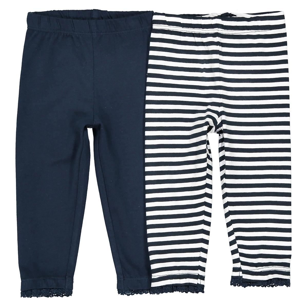 Confezione da 2 leggings 1 mese - 3 anni Oeko Tex