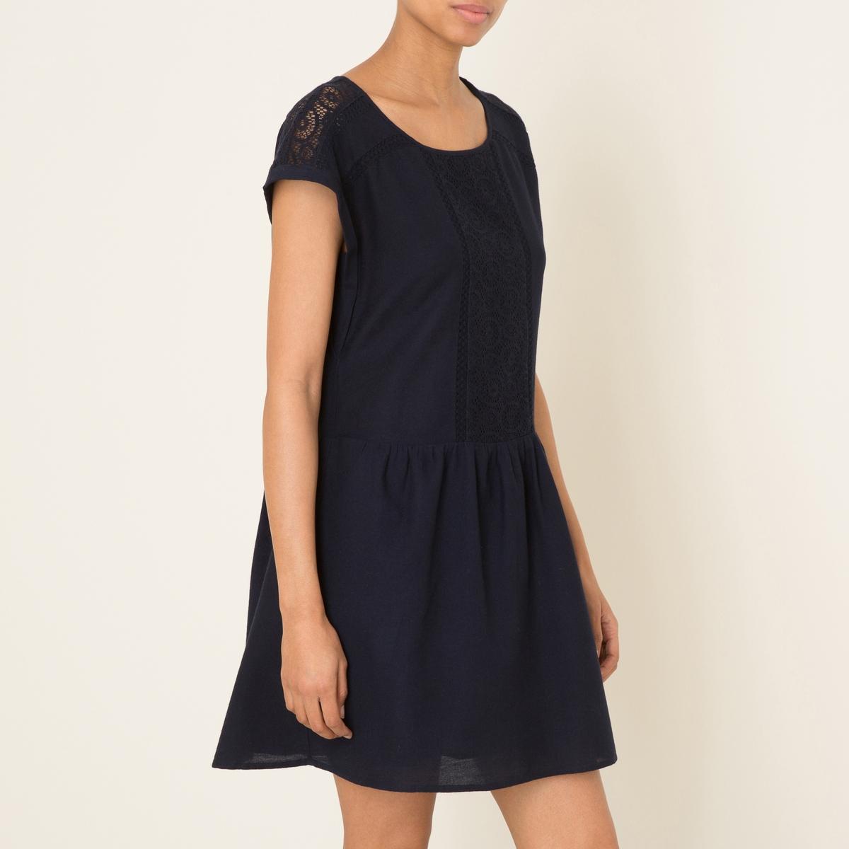 Платье с вышивкойСостав и описание    Материал : 100% хлопок   Марка : HARRIS WILSON<br><br>Цвет: темно-синий