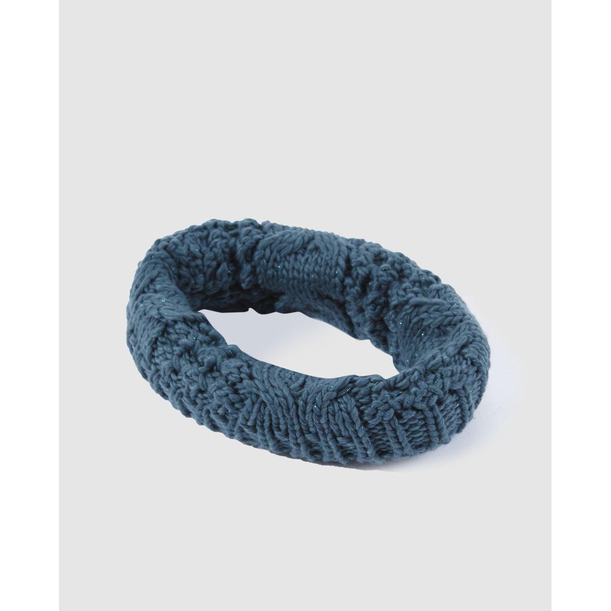 Écharpe tube en tricot  avec Fil textile