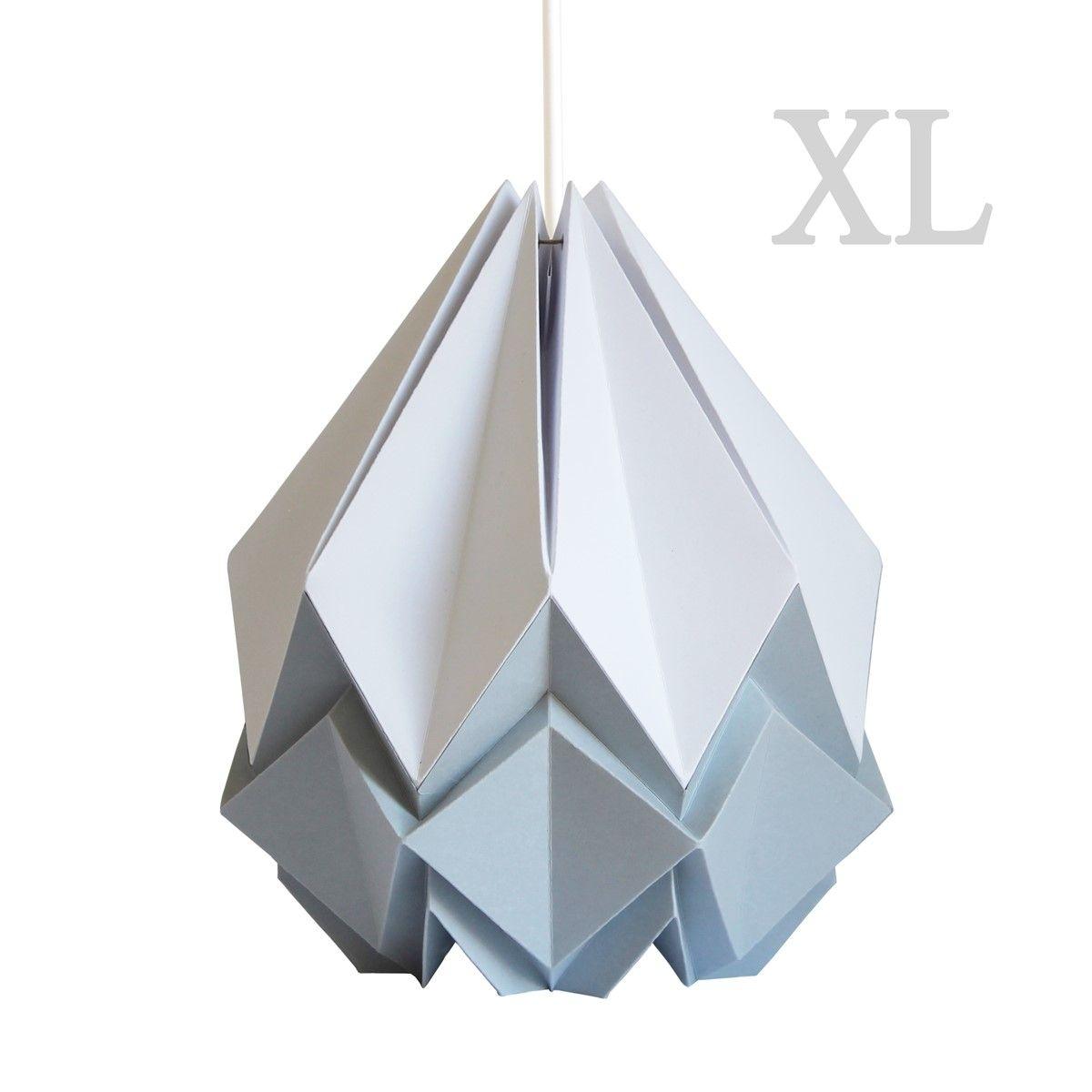 Suspension XL Origami Design en Papier Bicolore
