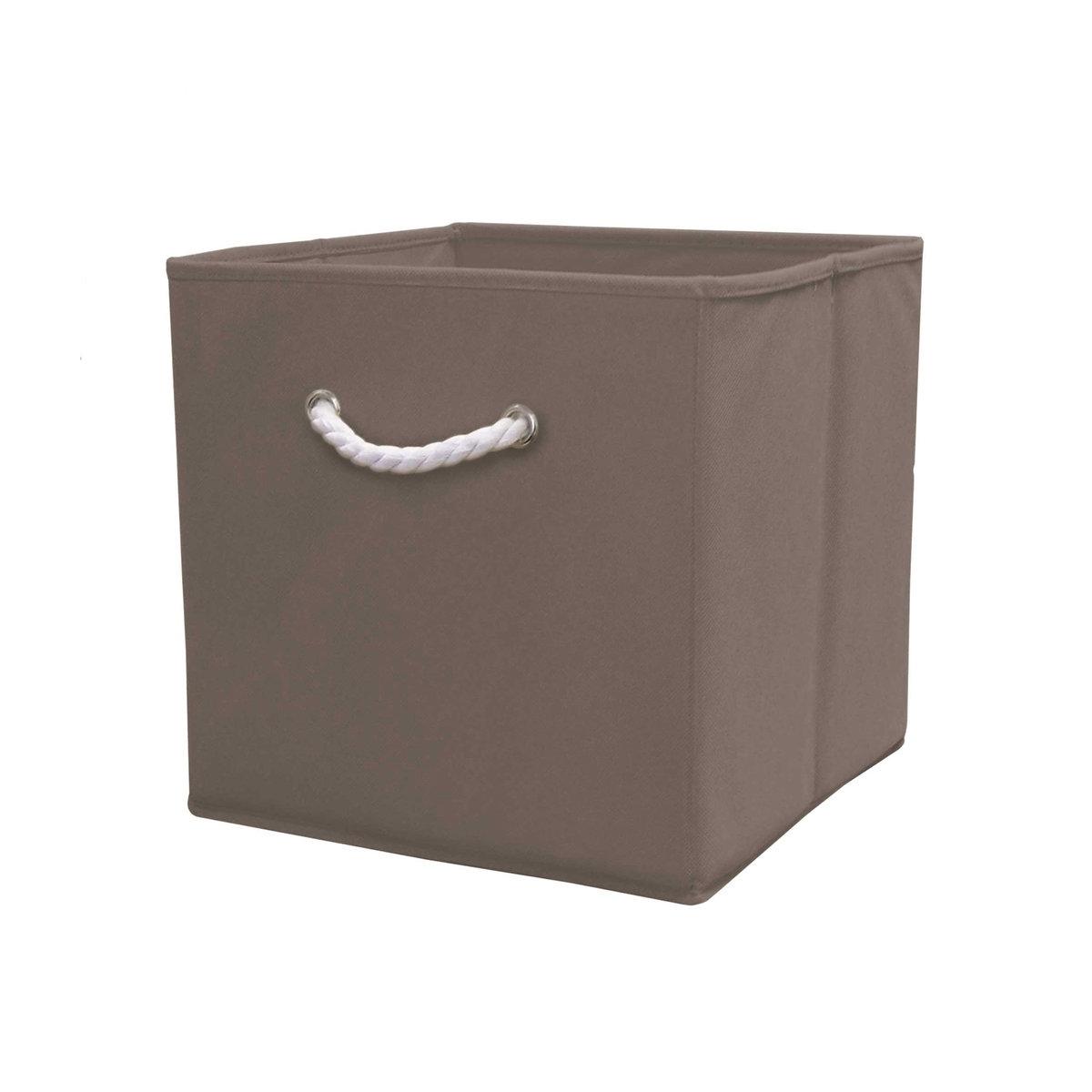 Короб для вещей DeniseЕго квадратная форма позволит вам разместить перчатки, шарфа, канцелярские принадлежности, аксессуары на каждый день, игрушки, журналы, административные архивы… короб для вещей Denise обеспечит идеальное хранение ! Характеристики короба для вещей Denise :каркас из картона (толщ.. 1,8 мм)Покрытие из ткани, 80 гр/м2Описание короба для вещей Denise  :Веревочная ручка из белого хлопка спереди Складная конструкция.Найдите коллекцию Denise нашем сайте .Размеры короба для вещей Denise :31,5 x 31,5 x 31,5 см .<br><br>Цвет: бирюзовый,зеленый анис,розовый,серо-коричневый каштан,черный<br>Размер: единый размер