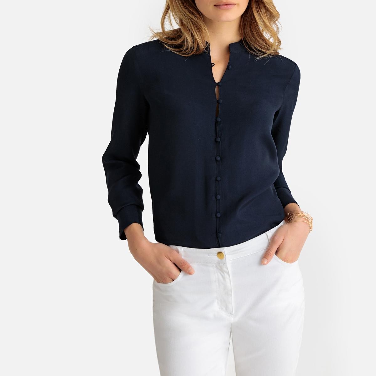Imagen principal de producto de Camisa con cuello mao, manga larga - Anne weyburn