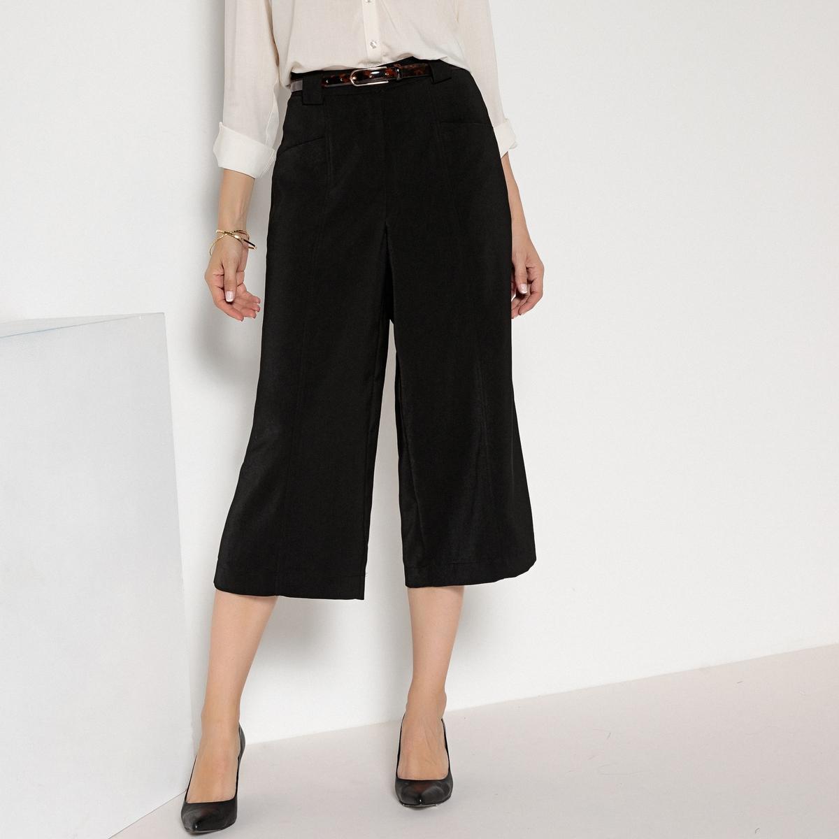 Imagen secundaria de producto de Falda pantalón ancha, con pliegue delante y detrás - Anne weyburn