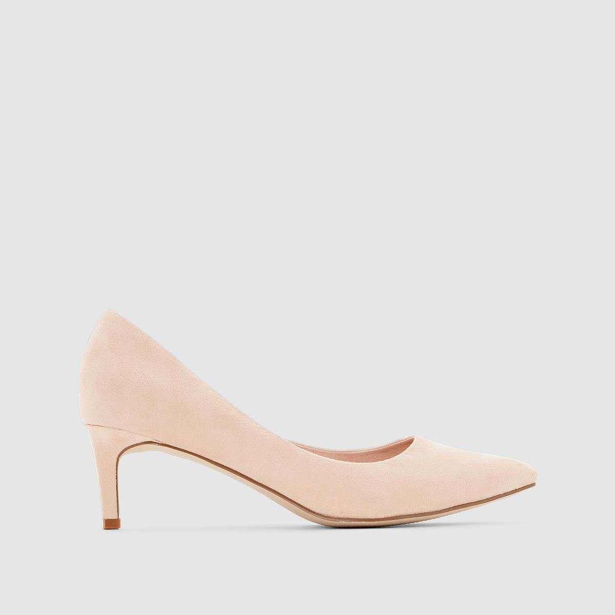 Туфли на низком каблукеИх + : Невысокий каблук, изысканные и удобные !<br><br>Цвет: бежевый<br>Размер: 37