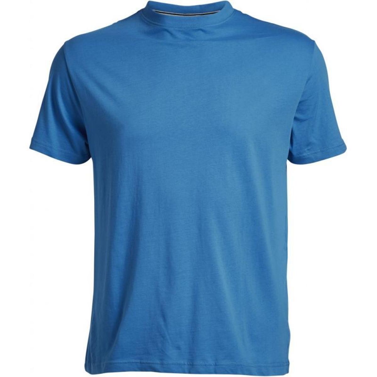 T-shirt col rond north bleu cobalt