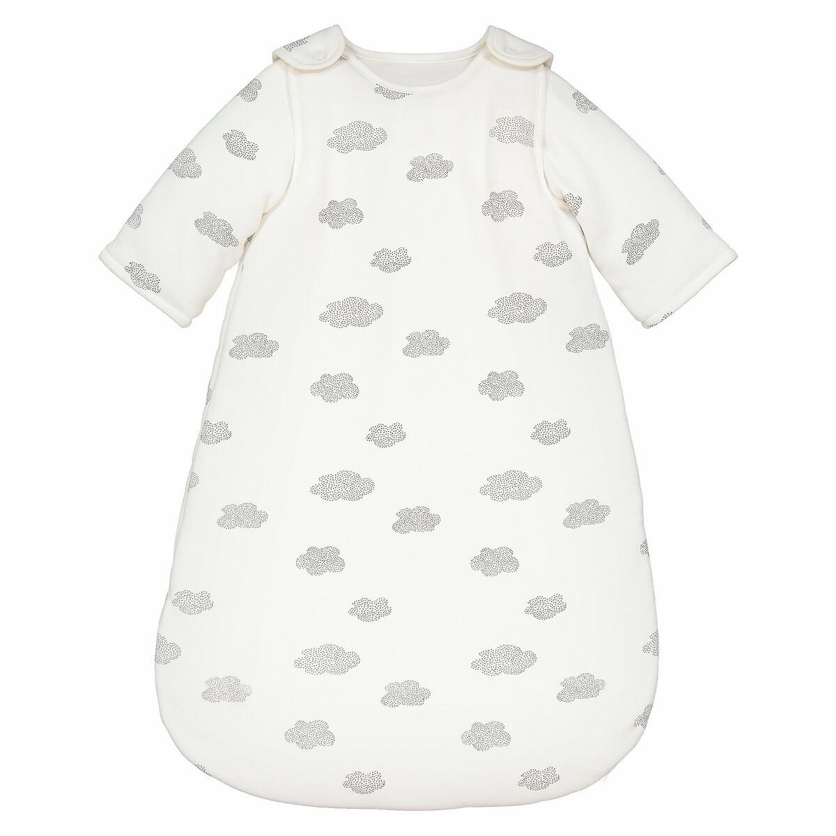 La Redoute Collections Saco de bebé com mangas amovíveis, em moletão