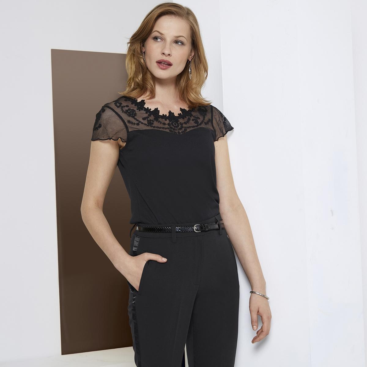 Imagen adicional 2 de producto de Pantalón recto tobillero, estilo esmoquin - Anne weyburn