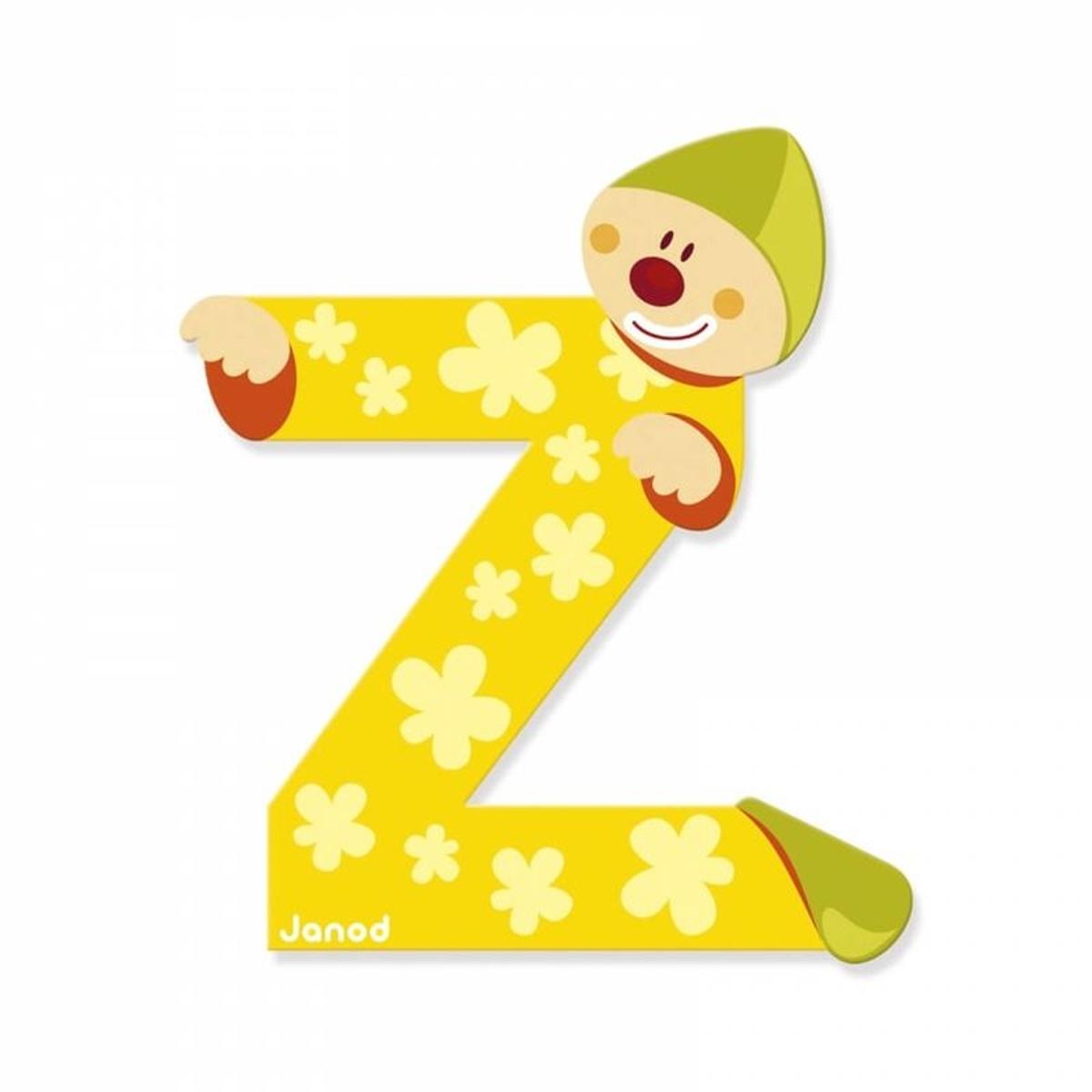 Lettre décorative clown en bois : Z