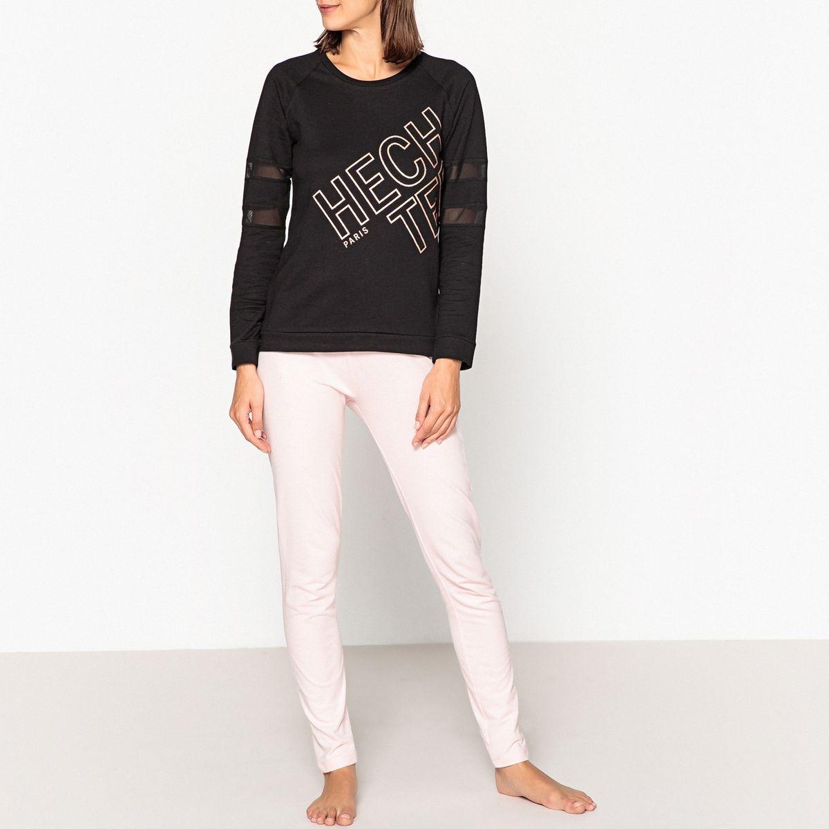 Pyjama coton imprimé logo