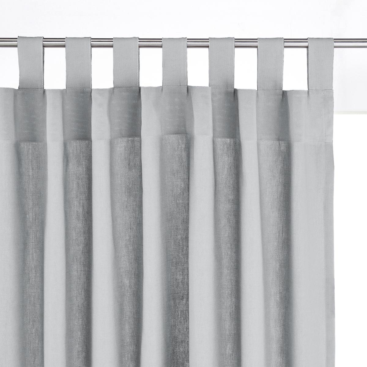 Штора 100% хлопка с клапанамиШтора 100% хлопка сочетается с коллекцией декора SCENARIO  . Штора из красивой и очеь прочной ткани 100% хлопка (220г/м?) \. Отделка клапанами (высота указана с учетом клапанов), готова к установке . Низ прошит перекидным швом ( в комплекте термоклейкая лента для создания подрубленного края)   .  Машинная стирка при 40 °С. Устойчивость окраски к стирке и воздействию света.                                      Сертификат Oeko-Tex® дает гарантию того, что товары изготовлены без применения химических средств и не представляют опасности для здоровья человека.<br><br>Цвет: бледно-зеленый,вишневый,серо-коричневый,серый жемчужный