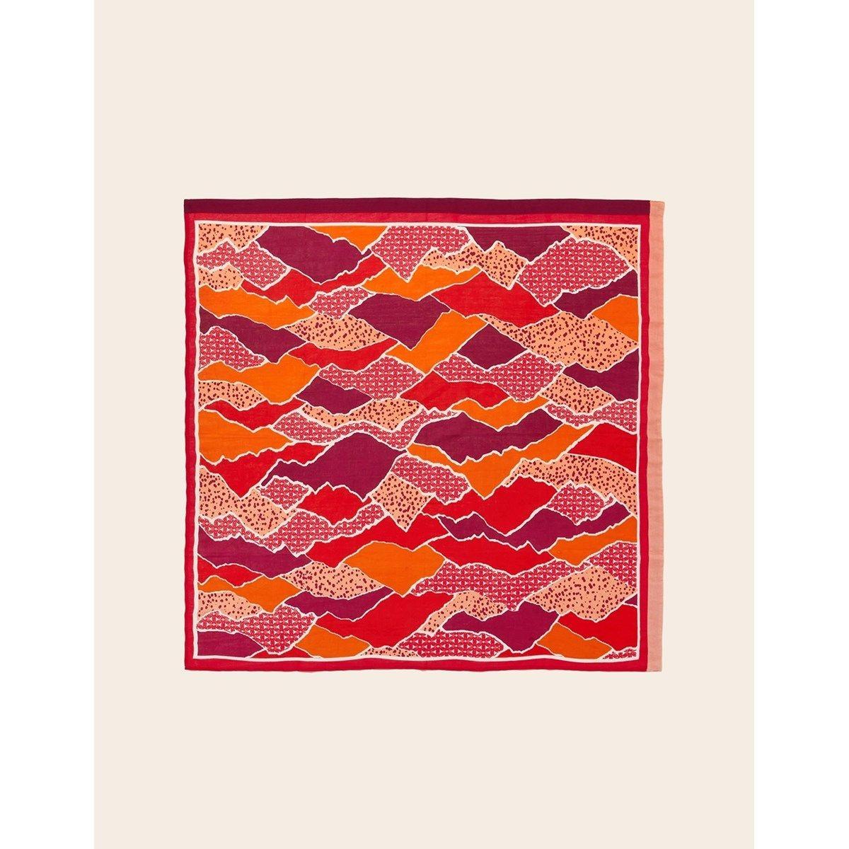 Foulard femme coton carré Maxi