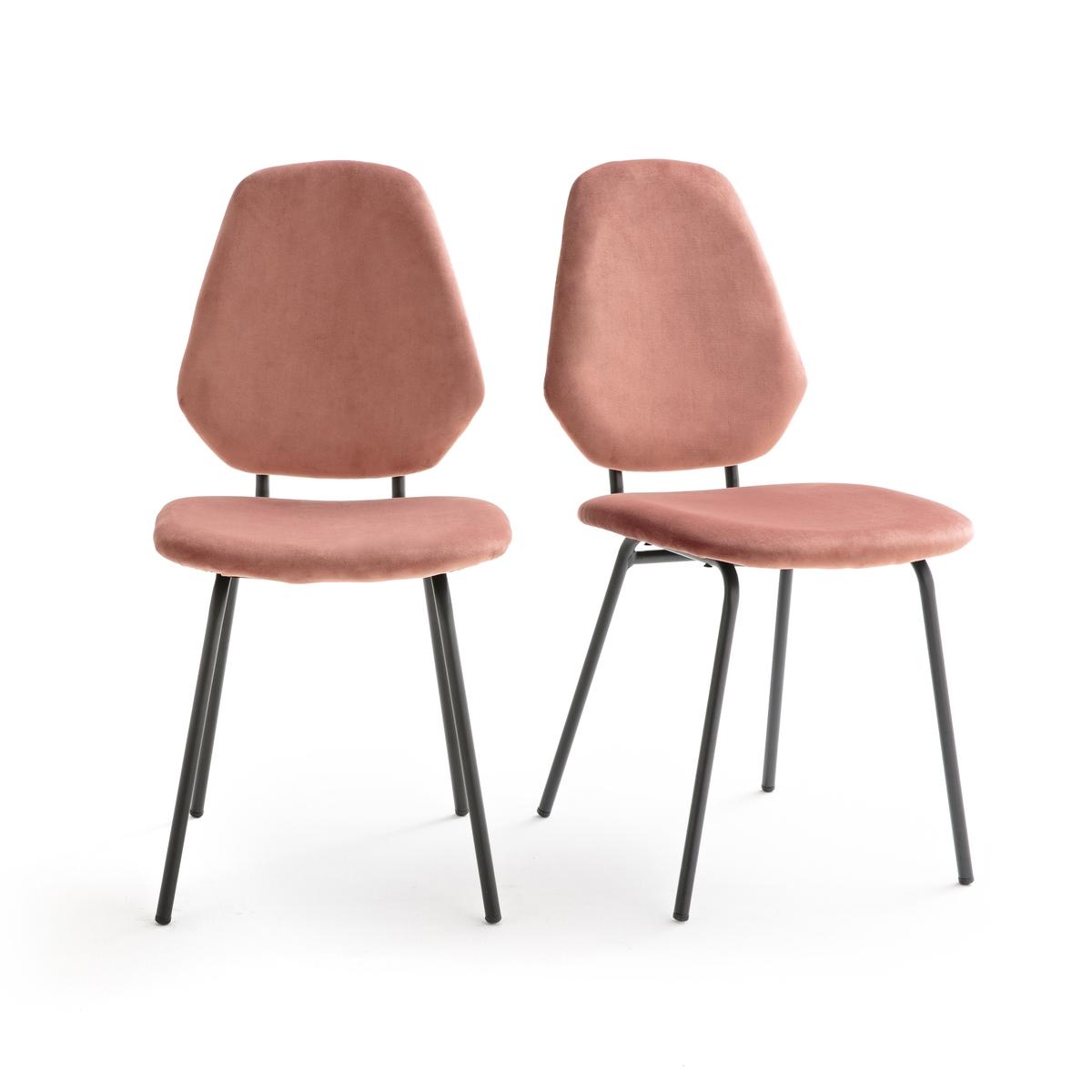 2 стула в винтажном стиле из велюра DIAMOND кресло низкое и широкое в винтажном стиле из велюра с бахромой ramona