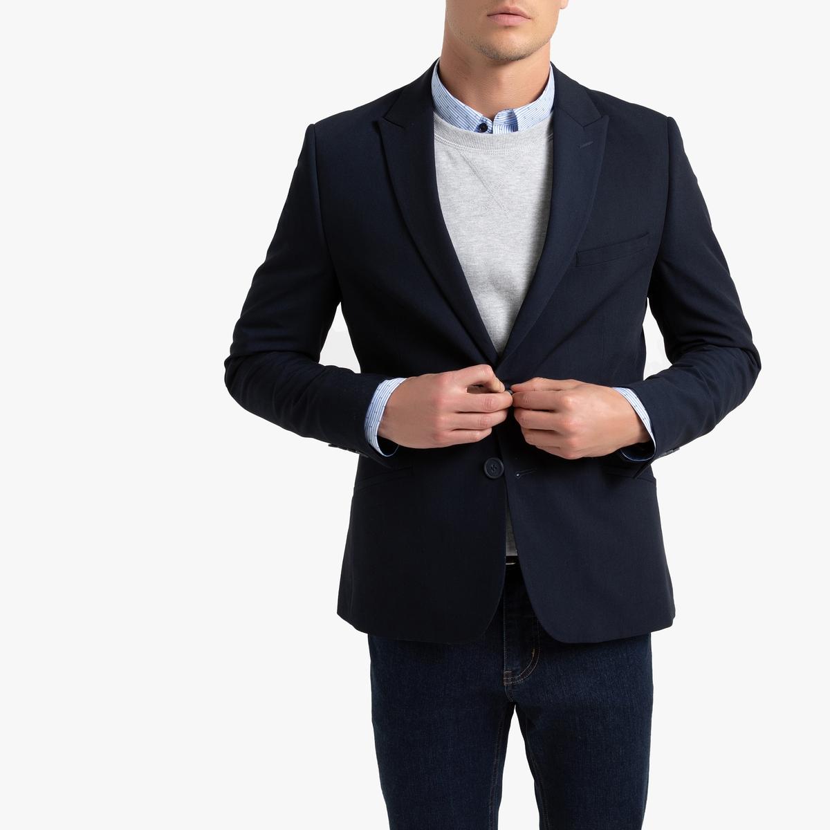 Пиджак La Redoute Костюмный узкого покроя 42 синий джинсы la redoute стретч узкого покроя hatch 32 34 синий