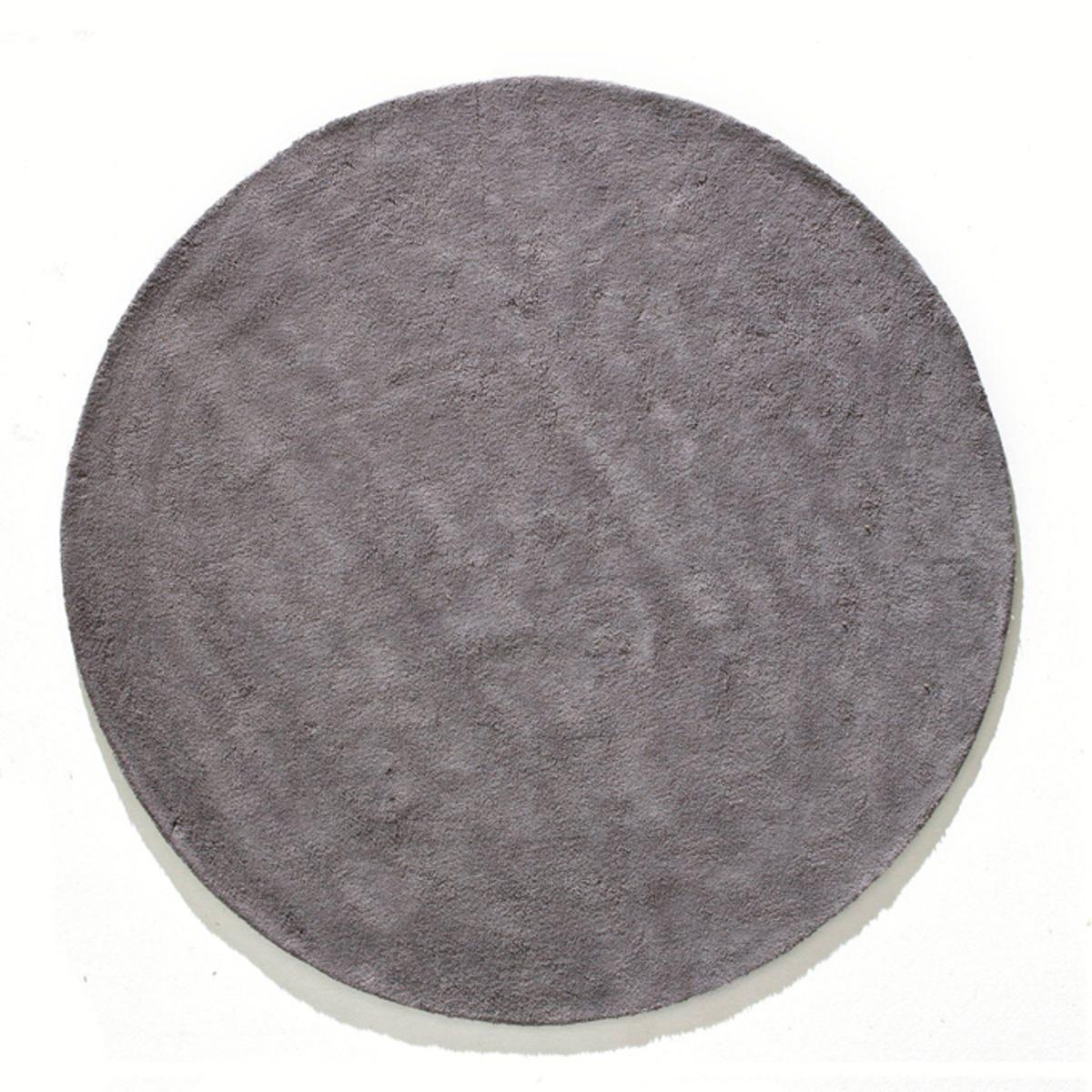 Ковер LaRedoute Круглый из хлопковой ткани Renzo маленький размер диаметр 70 см серый
