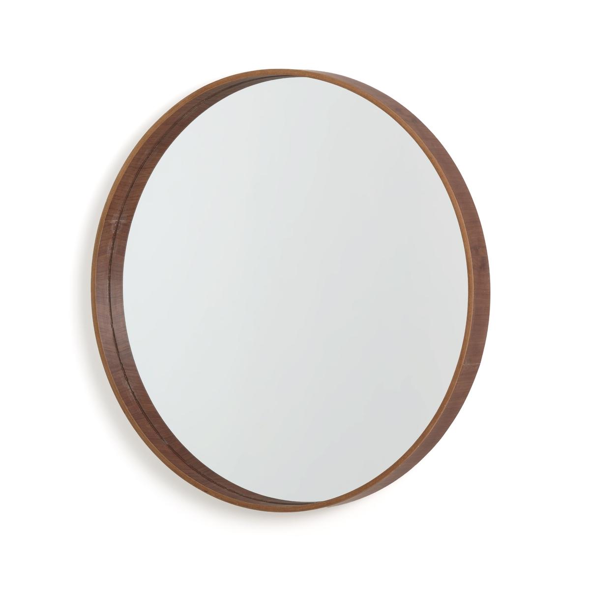 Фото - Зеркало LaRedoute Круглое ALARIA единый размер каштановый зеркало психея la redoute с рамкой из массива орехового дерева zindlo единый размер каштановый