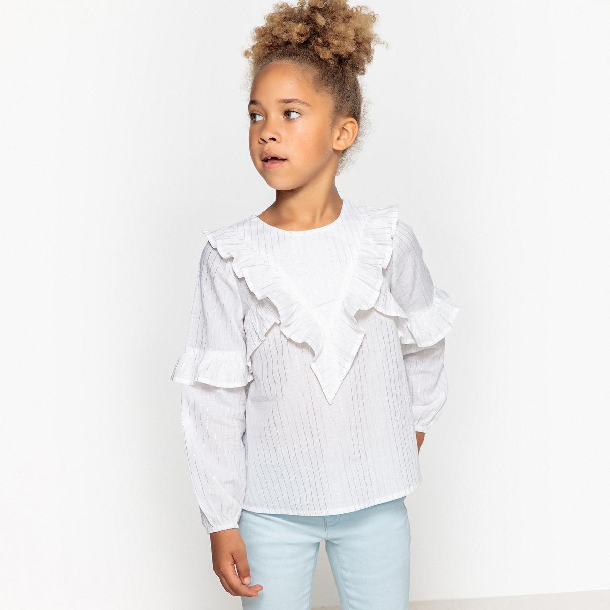 Блузка в блестящую полоску 3-12 лет