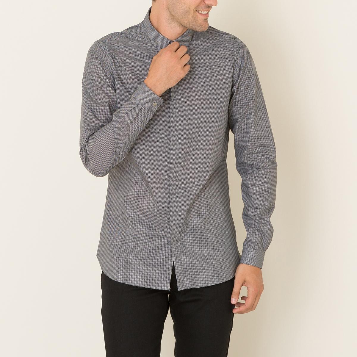 Рубашка мужская FITTEDСостав и описание Материал : 100% хлопокМарка : THE KOOPLES<br><br>Цвет: белый