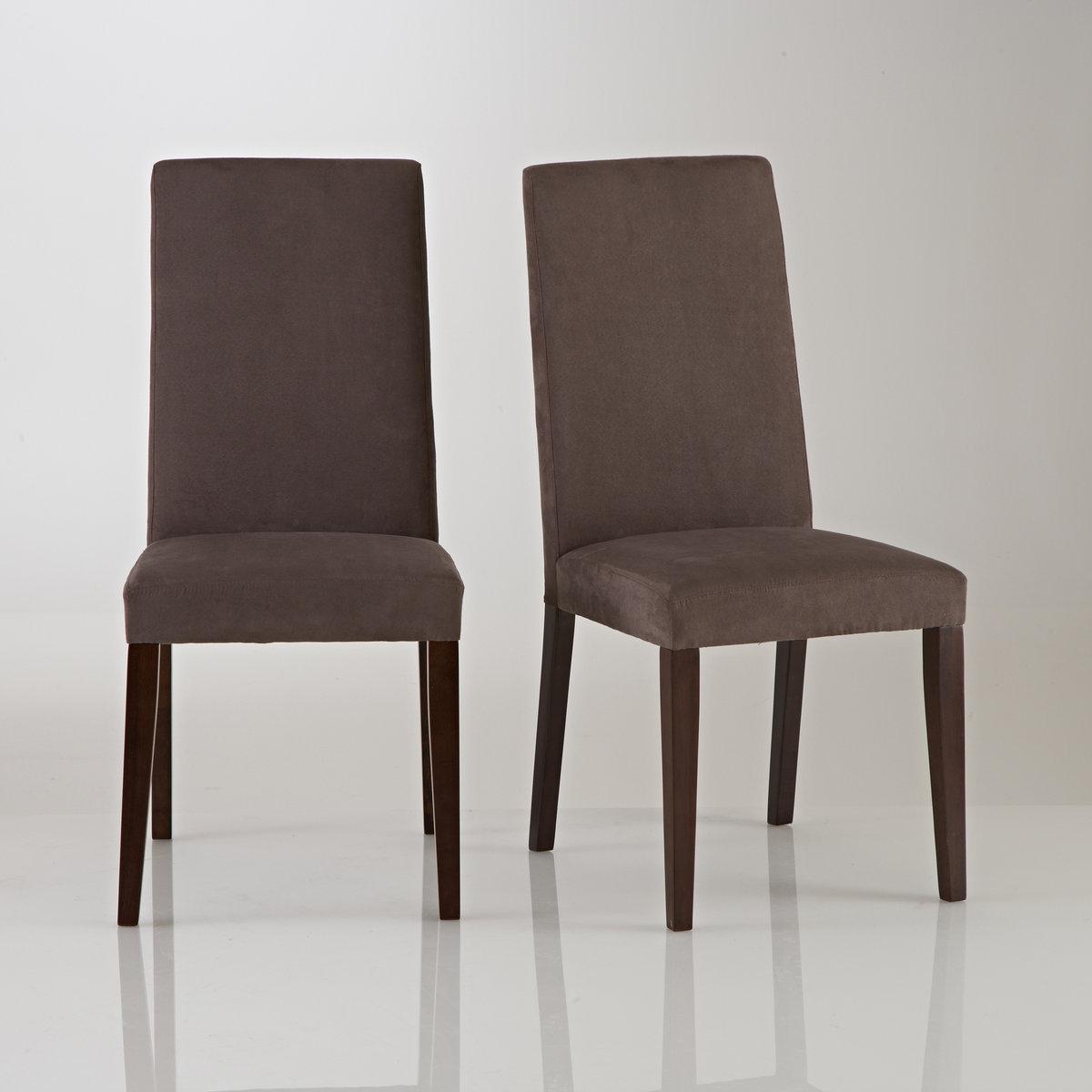 2 стула из микрофибры, Hartford2 стула Hartford, обивка из микрофибры : мягкая сверкающая обивка, утонченные линии в скандинавском стиле, мебель со своим характером. 3 цвета, подходящие для модного предмета декора.  Описание 2 стульев Hartford :Прямая спинка.Подвеска с помощью ремней для оптимального комфорта.Стулья продаются по 2 шт одного цвета.Характеристики 2 стульев Hartford :Ножки из массива сосны, покрытие морилкой.- Отделка лаком (полиуретановым).Обивка сиденья из замшевой микрофибры100% полиэстер . Наполнитель сиденья из пеноматериала плотностью 30 кг/м?.Откройте для себя другие стулья и коллекцию Hartford на сайте laredoute.ru.                                             Размеры стульев Hartford :Общие размеры Ширина : 44 см.Высота : 96 см.Глубина : 50 см.Сиденье 44 x 48 x 44 см         Размеры и вес упаковки :1 упаковка 98,5 x 29,5 x 42,5 см 14 кг.                                            Доставка :2 стула Hartford продаются с отвинченными ножками .   Возможна доставка до квартиры по предварительной договоренности! Внимание! Убедитесь, что доставка товара возможна в связи с его габаритами .<br><br>Цвет: темно-коричневый