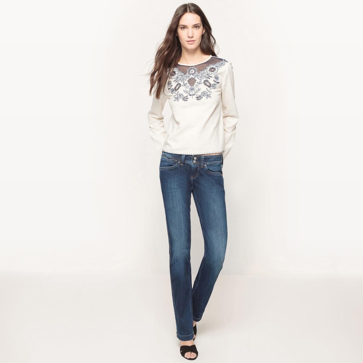 Джинсы-буткатМатериал : 98% хлопка, 2% эластана  Высота пояса : стандартная Покрой джинсов : свободный, широкий Длина джинсов : длина 32<br><br>Цвет: синий потертый<br>Размер: 29 длина 34.29 длина 32.28 (US) длина 32.26 длина 32.32 (US) длина 32